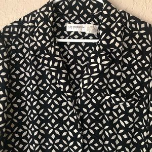 Liz Claiborne vintage black print dress.